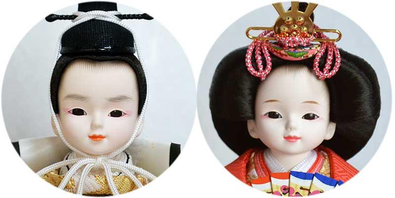 プリンセス雛人形のかわいい顔