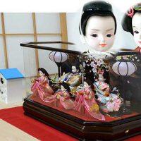 プリンセス雛人形 ケースセット 三人官女付き 89,800円~99,800円(消費税込み・送料無料)